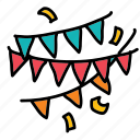birthday, festival, holiday, party icon