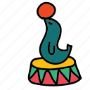 ball, circus, seal icon