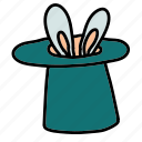 bunny, circus, hat, magic icon