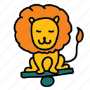 circus, happy, lion, show icon