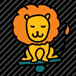 circus, happy, lion, show icon