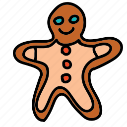 chrismtas, cookie, ginger, holidays, man, xmas icon