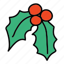 christmas, decoration, leaf, x-mas, xmas icon