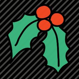 christmas, decoration, leaf, x-mas, xmas icon