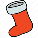 christmas, holidays, sock, socks, x-mas, xmas icon