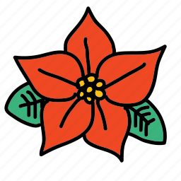 christ flower, christmas, flower, holidays, xmas icon