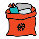 bag, christmas, gifts, holidays, x-mas, xmas icon