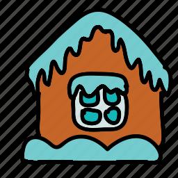 house, ice, winter icon
