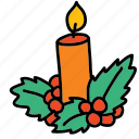 candel, christmas, decoration, holidays, x-mas, xmas icon