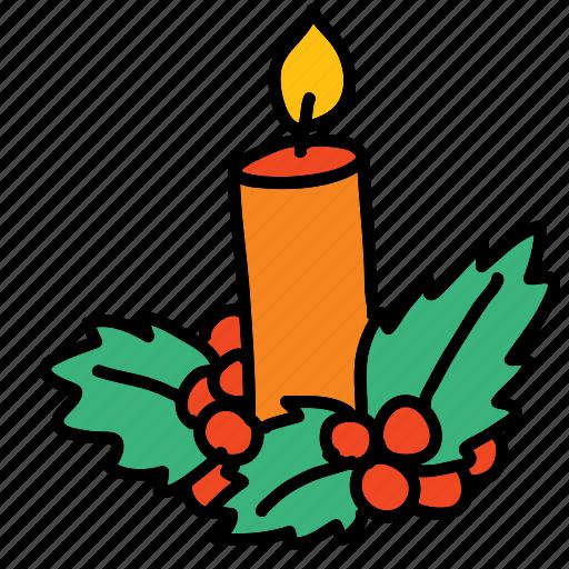 candel, christmas, decoration, holidays, x-mas, xmas icon