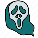 face, ghost, halloween, mask, scarry icon