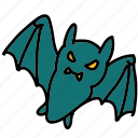 bat, halloween icon