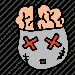 brains, dead, halloween, zombie icon