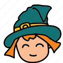 halloween, witch icon