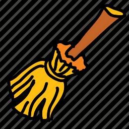 broom, halloween, magic, witch icon