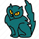 black cat, cat, halloween icon