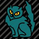 black cat, cat, halloween icon