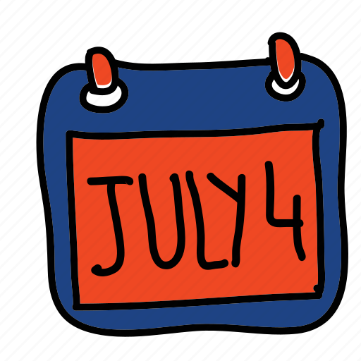 calendar, date, fourth of july, holiday icon