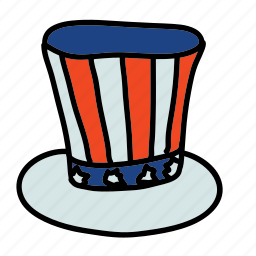 american, fourth of july, holiday icon