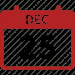 calendar, celebration, christmas, day, december 25, holiday, merry icon