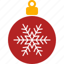 christmas, decor, holiday, ornament, red, tree, xmas icon