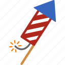 celebrate, celebration, firecracker, firework, fireworks, july 4th, rocket icon
