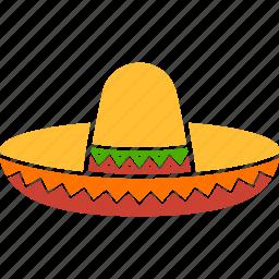 celebration, cinco de mayo, cowboy, hat, mexican, sombrero, sumbrero icon