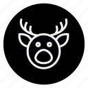 celebration, christmas, haloween, holiday, reindeer, winter, xmas icon