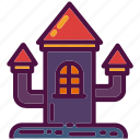 castle, halloween, haunted, holiday, house, party, tower icon
