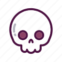 bones, dead, face, halloween, holiday, party, skull icon