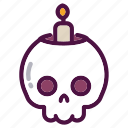 bones, candle, holiday, party, skull, witch, halloween