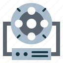 cinema, filming, illuminant, light icon