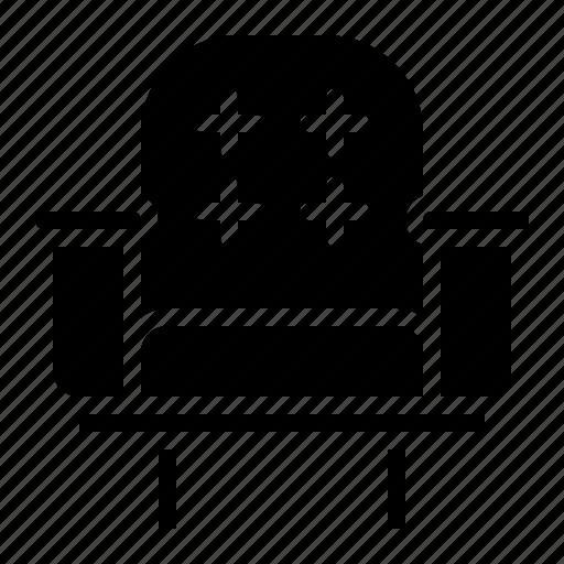 armchair, chair, furniture, silhouette icon