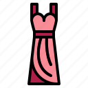 dress, fashion, stylish, woman icon