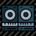 audio, loudspeakers, music, sound icon