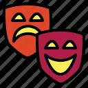 drama, emotions, entertainment, mask icon