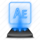 adobe, after, effects, hologram, photoshop icon