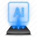 adobe, hologram, illustrator, photoshop icon