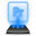 adobe, hologram, photoshop, premiere, pro icon