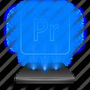 adobe, hologram, holographic, photoshop, premiere, pro icon