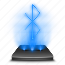 bluetooth, communication, connection, hologram, holographic, network, wireless icon