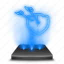 clans, clash, entertainment, game, hologram icon