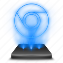browser, chrome, google, hologram, holographic, internet icon