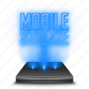 entertainment, game, hologram, mobile, strike icon