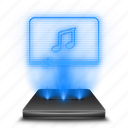 audio, hologram, media, multimedia, music, player icon