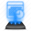 data, documents, file, hologram, holographic, notebook, schedule icon