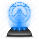 entertainment, game, hologram, overwatch icon