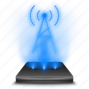 communication, fmam, hologram, holographic, radio, wave, wireless icon