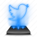 hologram, media, network, social, tweet, twitter icon