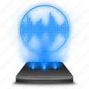 hologram, mic, microphone, record, recorder, speaker, voice icon
